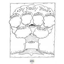 Picture Coloring Family Tree Pages Printable In Download