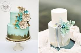 Distressed Gold Wedding Cakes By KCE Left Gift Ire Right With Paula O
