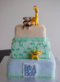 Safari Cakes Baby Shower Baby Shower Cake Pink Safari A Blue Safari