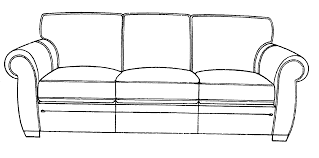 Couch Drawing Throughout Decor