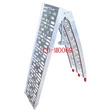 100 Aluminum Loading Ramps For Pickup Trucks Lawnmower ATV Truck 75 Arched Folding 90