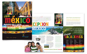 Mexico Travel Brochure Template Design