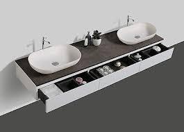 badmöbel vision 180 cm weiß spiegel aufsatzwaschbecken