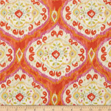 Pumpkin Moon Medallion Id by Tangier Ikat Medallion Orange From Fabricdotcom Designed By Dena