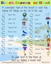 Beach Travel Printable For Kids