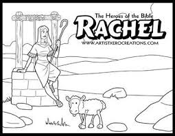 The Heroes Of Bible Coloring Pages Rachel Genesis 29