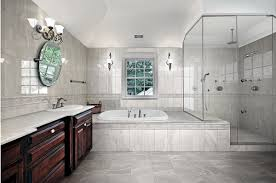matte and shiny ceramic wall tile with matching porcelain floor