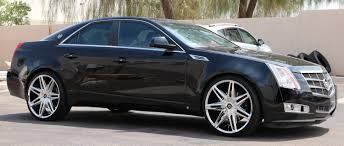 22 inch Lexani Johnson II Chrome on 2009 Cadillac CTS w Specs Wheels