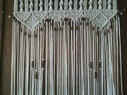 Door Curtain Macrame and Beaded For a Door on Etsy $188 80 CAD