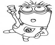 Printable Jerry Dance The Minion Coloring Page Pages