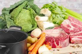 boeuf et légumes pour la préparation du français pot au feu banque