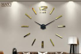 Large Decorative Wall Clocks DIY Sticker Clock Diy Pendulum Mirror