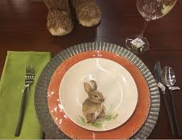 4 Easter Table Settings Using The PB Bunny Plates - This Is My Circus Cfessions Of A Plate Addict How To Get The Pottery Barn Look Easter Tablescaping The Bitter Socialite Tablcapes Table Settings With Wisteria And Bunny 15 Best Snacks Easy Cute Ideas For Snack Recipes Inspired Glitter Eggs Home I Create Pottery Barn Bunny Belly Bowl New Easter Candy Dish Rabbit Table Casual Famifriendly Breakfast Entertaing Made Spring Setting Tulip Centerpiece 278 Best Bunniesceramic Images On Pinterest Bunnies 27 Diy Centerpieces Designs 2017