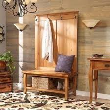 Bench Coat Rack Simple Rustic Country Style Hall Tree Accent Your Home With Natural Wood Entryway Furniture