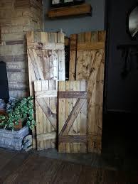 Z Bar Rustic Wood Shutters