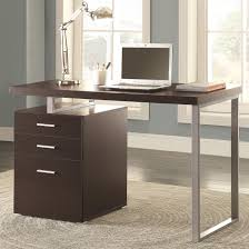 coaster 800519 l shaped computer desk with cabinet in cappuccino