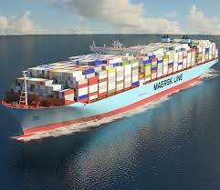 100 Shipping Container Model Maersk Triple Eclass Container Ship 3D Model