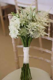 White Wedding Bouquet Country Style Flowers