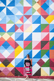 Deep Ellum Dallas Murals by Stripe Midi Skirt