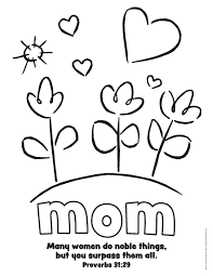 Religious Mothers Day Printable Coloring Page