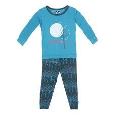kickee pants pine frosted birch long sleeve pajama set pyjama