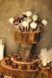 Custom Made Cake Pops Stand For Rustic Theme Wedding