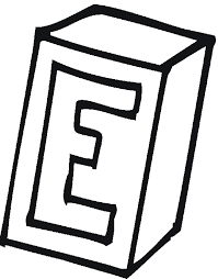 Box E Alphabet Coloring Pages Free