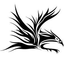 Awesome Tribal Eagle Tattoo Design