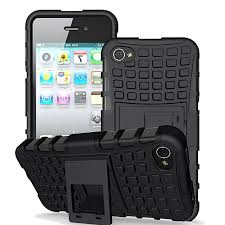 For iPhone 4 Case Armor 3D Hybrid Stand Holder Anti knock Luxury