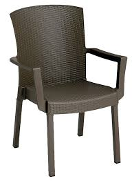 Grosfillex Miami Lounge Chairs by Classic Armchair Espresso
