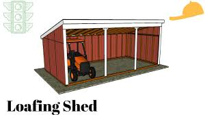 Livestock Loafing Shed Plans by Free Loafing Shed Plans Youtube