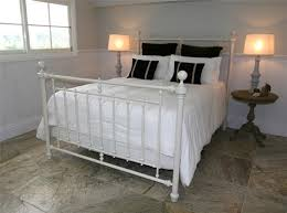 White Metal Bed Frames King Size