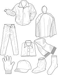 Clothing Outline Socks Pants Jackets Clip Art At Clker