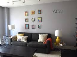 blue gray walls living room home design