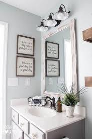 Make Your Own FARMHOUSE BathroomYourself Bathroom Wall DecorBathroom
