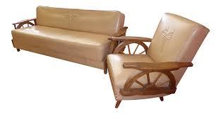 100 Cowboy In Rocking Chair Vintage Western Wagon Wheel Sleeper Sofa A