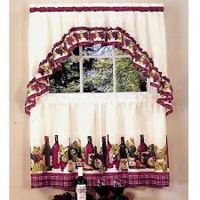 Grape Decor Kitchen Curtains by Wine Kitchen Curtains Curtains Ideas
