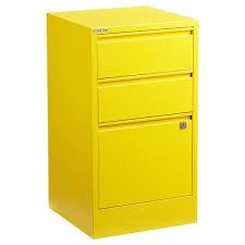 bisley yellow 2 3 drawer locking filing cabinets the