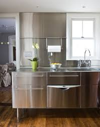 Glass Top Stainless Steel Legs For Transitional Kitchen With
