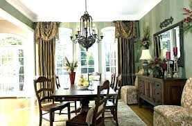 Dining Room Drapery Ideas Curtain Formal Living Curtains Drapes Bay Window Treatment