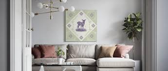 deer purple green
