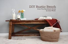 DIY Rustic Bench With Livelaughrowe