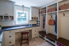 Mudroom Laundry Room Ideas Entry Transitional With Coat Lockers Workstation Storage Baskets