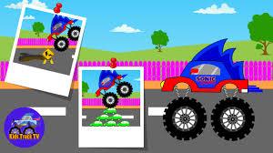 100 Youtube Monster Truck Sonic S For Children Kids TV Funny