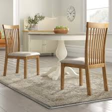 Yvonne Oak Upholstered Dining Chair Set Of 2
