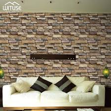 100 Modern Stone Walls Vintage Brick Textured Wallpaper For Decor