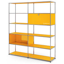 usm haller living room shelf l golden yellow ral 1004 by