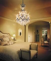 Bedroom Ceiling Lighting Ideas by Bedroom Royal Bedroom Interior Design With Elegant Chandelier