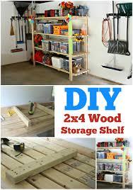 Build A Wood Shelving Unit by Diy 2 4 Garage Shelving