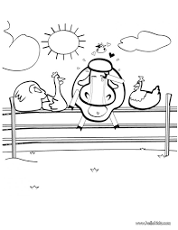 Painting Pig Cow In Love Coloring Page
